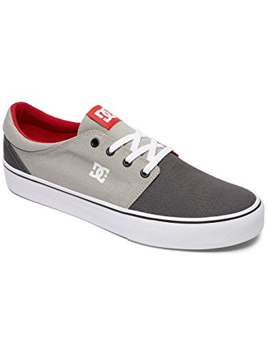 DC Shoes Trase Tx, Baskets mode homme Gris - Grey/Grey/Red
