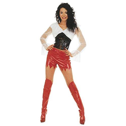 Amakando Lack Stiefelstulpen Teufel Stiefel Gamaschen rot Sexy Weihnachtsfrau Schuhüberzieher Overknee Lackstiefel Stulpen Weihnachten Stiefelüberzieher Gothic Domina Schuh Überzieher