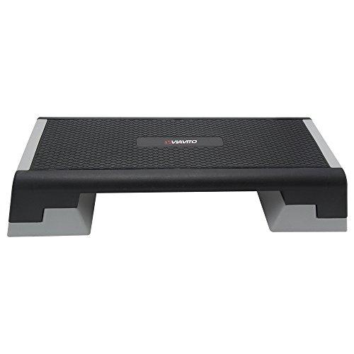 Viavito Adjustable 3 Level Aerobic Stepper Fitness Step Exercise Platform -