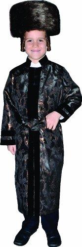 Kinder Kostüm Rabbi - Dress Up America Der schwarze Rabbi-Mantel des Kindes