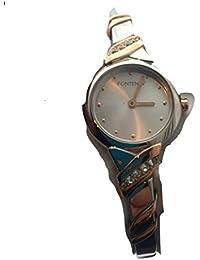 Plaqué Deux / Tone 18 KT or Fontenay Collectors Item Femmes Pierre Quartz Analogique Montre-bracelet