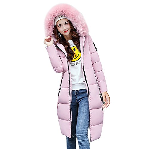 Theshy Damen Winterjacke Wintermantel Lange Daunenjacke Jacke Outwear Frauen Winter Warm Daunenmantel Solide Lässig Dicker Winter Slim Down Lammy Jacke Mantel