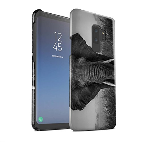 (Stuff4® Glanz Snap-On Hülle/Case für Samsung Galaxy S9 Plus/G965/Elefant Muster/Zoo-Tiere Kollektion)
