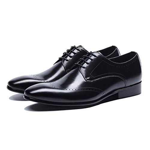 RSHENG Herren Oxford Bullock Round Sneakers Herren Freizeitschuhe Atmungsaktive Krawatte Spitzen Arbeitsschuhe -