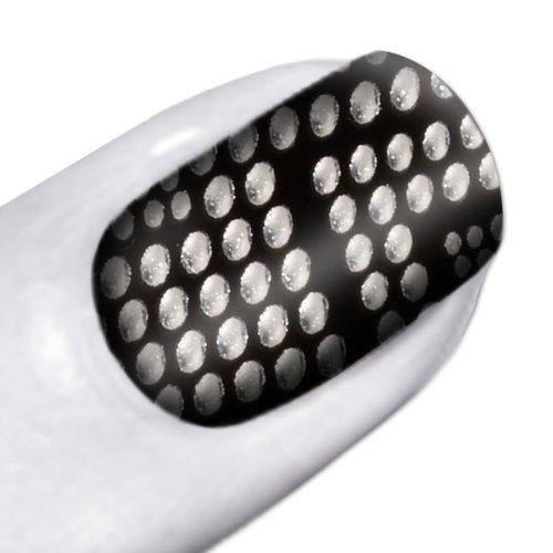Maybelline New York Nagelsticker Color Show Nailsticks Heavy Metal / Selbstklebende Nagelsticker in rockigem Schwarz mit 3D-Effekt mit ultra-langem Halt, 1 x 18 Sticker Textured Black Metal