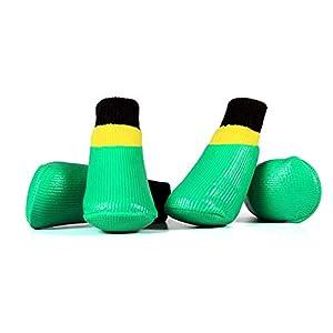 Pet Outdoor Chaussettes Chaussures 4Pcs Petit Grand Chien Étanche Antidérapant Chaussures De Formation Facile à Nettoyer