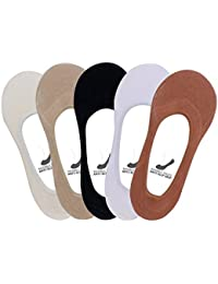 SUPERSOX Women's Combed Cotton Loafer Socks (Pack of 5) (WCCD0849_Multicolour_Free Size)