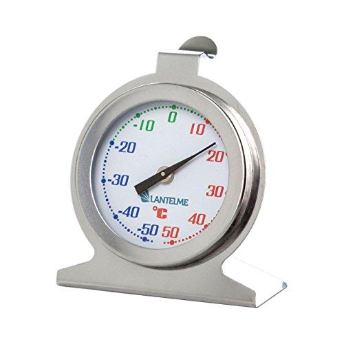 Lantelme 5390 Edelstahl Kühlschrankthermometer Analog Thermometer Farbe Silber