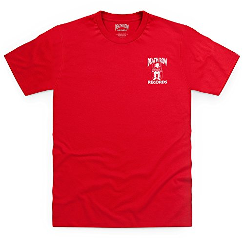 Official Death Row Records Logo Pocket Print T-Shirt, Herren, Rot, 5XL -