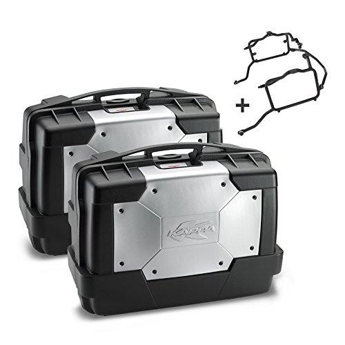 Seitenkoffer Set Honda Transalp XL 700 V 08-13 Kappa Monokey KGR33 schwarz (KL203)