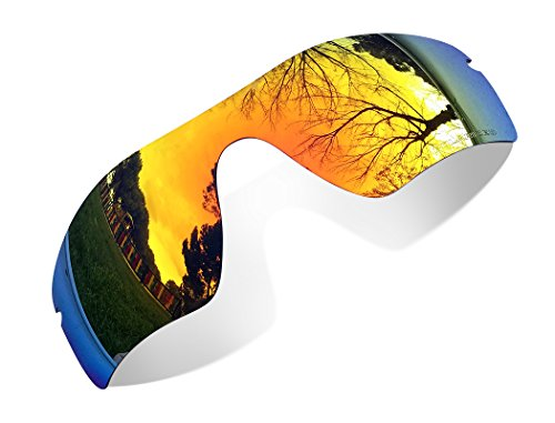 sunglasses restorer Kompatibel Ersatzgläser für Oakley Radarlock OO9181, Polarisierte Fire Iridium Linsen.