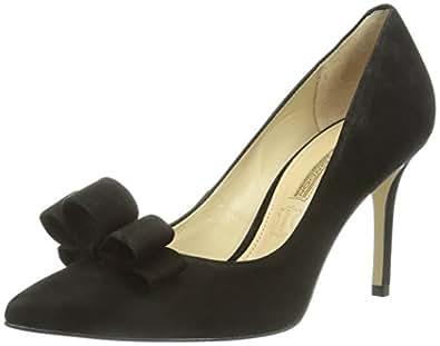 Buffalo London  ZS 3365-13 NUBUCK, Escarpins pour femme - Noir - Schwarz (BLACK 01), 38 EU (5 Femme UK) EU