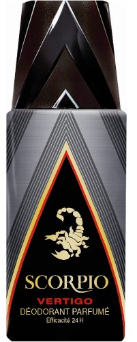 Scorpio - Déodorant pour Homme - Vertigo - Atomiseur 150 ml