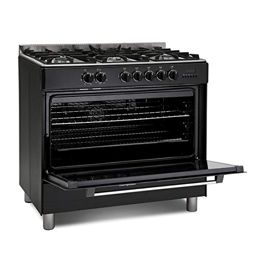 410hTujdVSL. SS500  - Montpellier MR91DFMK 90cm Single Cavity Dual Fuel Range Cooker - Black