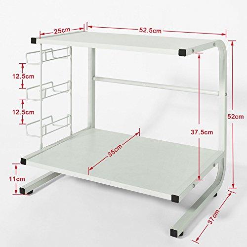 sobuy mensola per forno a microonde mensola da cucina mensola in metallo e. Black Bedroom Furniture Sets. Home Design Ideas