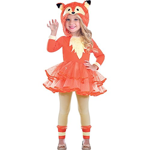 Mädchen Fox Kostüm - Fuchs Tier Kostüm Kinder Mädchen Amscan