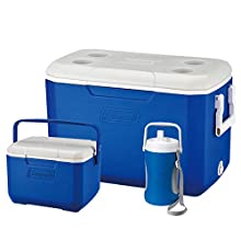Coleman Cool Box Combo, 3 x high-performance cooler boxes, capacities 46 L, 4.7 L and 2 L Jug