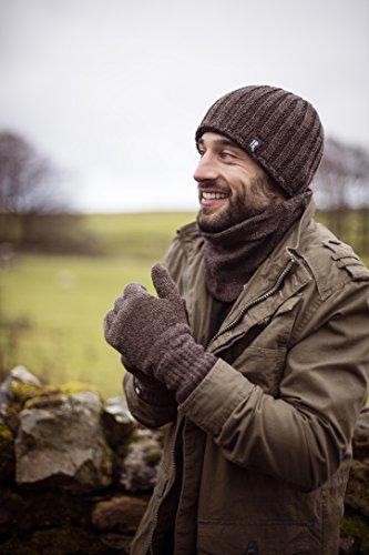 Heat Holders - Toison thermique doublée, homme côtelé Bonnet d'hiver 3.4 TOG - Une taille (Mens Hat) Grey