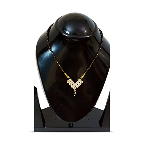 Divine Creations Gold Plated Jewellery Mangalsutra Pendant Necklace with Studded American Diamond with Chain For Girls And Women  available at amazon for Rs.149