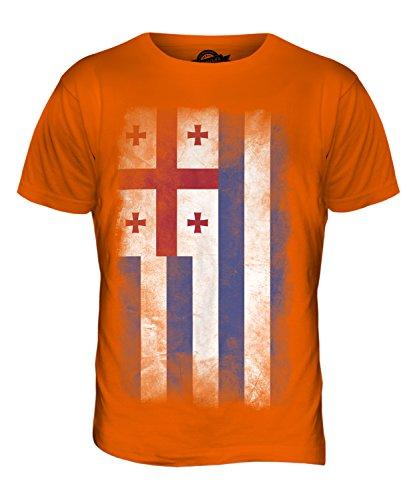 CandyMix Adscharien Verblichen Flagge Herren T Shirt Orange