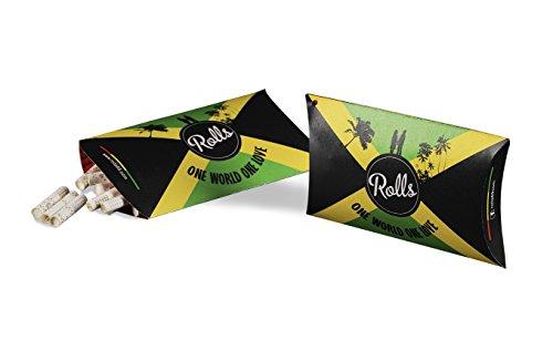 Rolls Smart Filter Tips | 50 Stück Jamaica (7mm) VIP Pack | Eindrehfilter mit Kühlsystem | Spezial Filter keine Aktivkohle | Weniger Schadstoffe mehr Genuss -