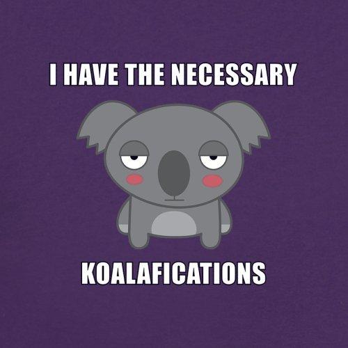 Ich habe die nötigen Koalafikationen - Damen T-Shirt - 14 Farben Lila