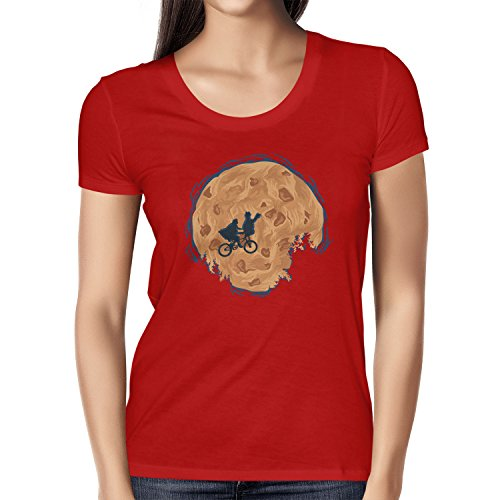 Kostüme Zweifel Film (TEXLAB - Cookie E.T. - Damen T-Shirt, Größe M,)
