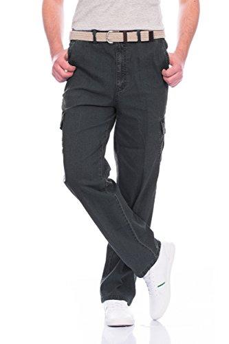 Fashion Herren Cargo Hose mit Dehnbund ID342, Farbe Schwarz Größe 4XL cf8c25e8ea