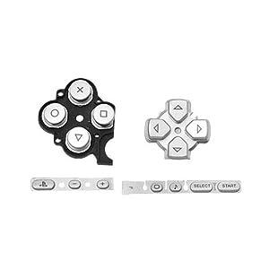 OSTENT Buttons Key Pad Set Reparatur Ersatz Kompatibel für Sony PSP 3000 Slim Konsole – Farbe Silber