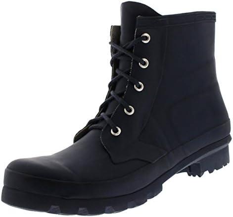 Hombre Estilo Militar 100% Caucho Impermeable Ata para Arriba Nieve Lluvia Botas