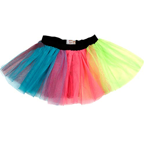 626e7e40f2 Ladies Neon Tutu Skirt 80s Party Outfit Hen Party Running Costume 1980s  (8-12