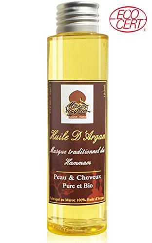 Olio di argan bio del marocco - antirughe e nutriente - 100% pura 100ml - cura per pelle magnifica e capelli sublime, pressato a freddo e filtrata, qualità superiore garanzia