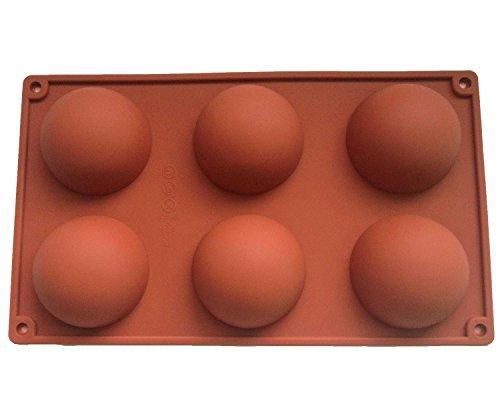grand 6 demi-sphères moule en silicone, Plat à four en Silicone antidérapant très résistant, gâteau de cuisson