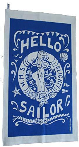 The English Beagle Geschirrtuch, Humourous Seaside Hello Sailor