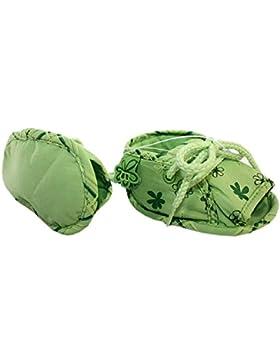Bóboli - Patucos de Lona para niña Verde verde