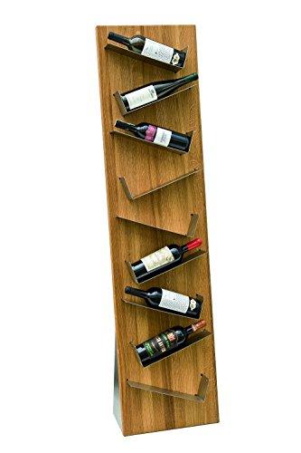 """Weinflaschenhalter\""""wave\"""" in Holz und Edelstahl"""