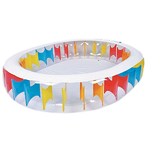 Jilong Oval Pool 250x208x50 cm Familienpool Planschbecken Kinderpool Schwimmbecken Schwimmbad für Garten und Terasse
