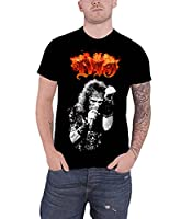 Dio T Shirt Ronnie James Flaming band Logo Official Mens Black S