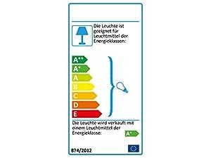 LISA Deckenleuchte Chrom 2-flammig LED Lampe, Deckenlampe, LED Strahler, Spots, Wohnzimmerlampe, Deckenstrahler, Deckenleuchte Wohnzimmer, Deckenspot, Deckenbeleuchtung, schwenkbar [Energieklasse A+]