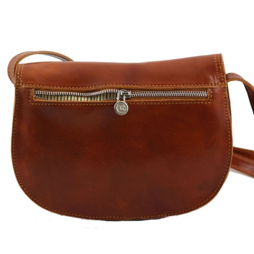 890314 - TUSCANY LEATHER: ISABELLA - SAC BANDOULIÈRE femme en CUIR rouge