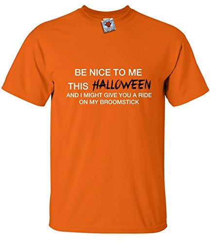 n Be Nice To Me T-Shirt (Orange, X-Large) (Halloween Bonfire Ideen)