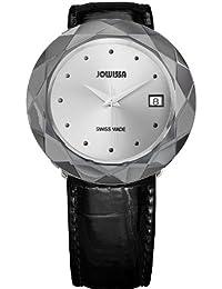 Jowissa J1.186.XL - Reloj analógico de cuarzo para mujer con correa de piel, color negro