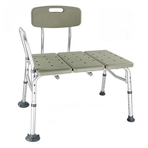 SAILUN Medical Duschhocker Badhocker Aluminium & HDPE Anti-Rutsch mit Armlehne und Rückenlehne Duschstuhl verstellbar