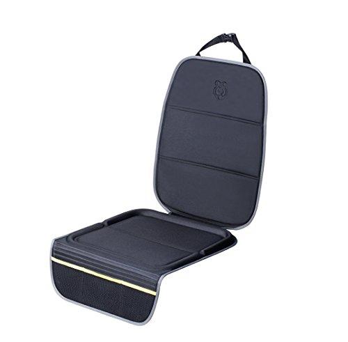 Parenthings proteggi posteriore sedile protezione auto seggiolino bambini universale - premium convertibile integrato termo-formato protettori, protezione rivestimento anti-scivolo a doppia-presa