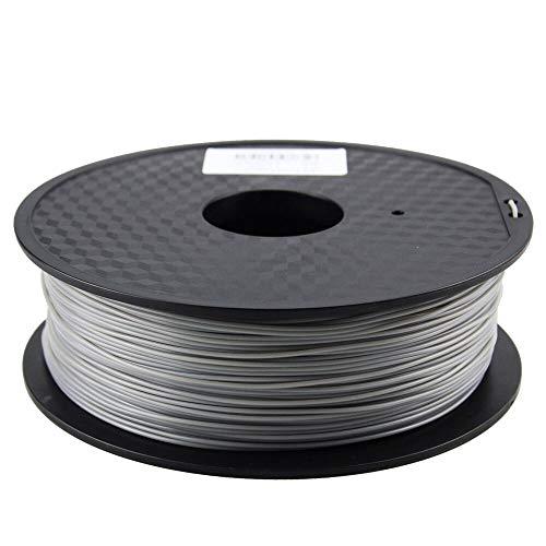 Wang-n-j-3d, zonestar shipping from russia filamento stampante 3d materiali di consumo in plastica pla 1,75 mm 28 colori 1kg / roll (colore : grigio)