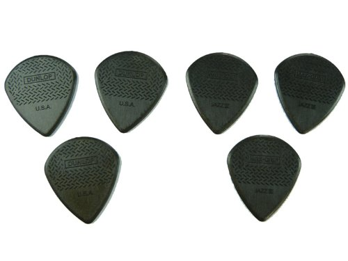 dunlop-471r3c-max-grip-jazz-iii-carbon-fibre-guitar-picks-pack-of-6