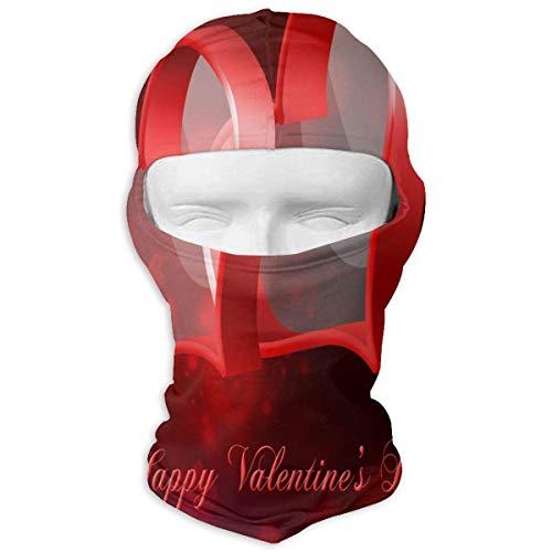 Sturmhaube Valentinstag Rosa Herz Liebe Dich Frühling Hochzeit Vollmasken UV Schutz Ski Hut Womens Headwear Design12
