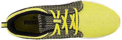 Puma Carson Runner Knit Lace-up Fashion Sneaker Sulphur Spring/Black