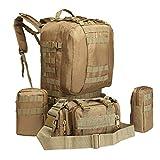 XBTECH Mochila táctica Camping Táctica Militar Senderismo Bolsa Ejército Combate Trekking al Aire Libre Molle Mochilas pequeñas Tiene un diseño de múltiples Bolsillos