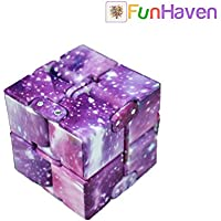 FunHaven Sensory Infinity Cube for Kids Adults ADHD Autism Anxiety Stress Relief Galaxy Folding Fiddle Toys Finger Fidgets